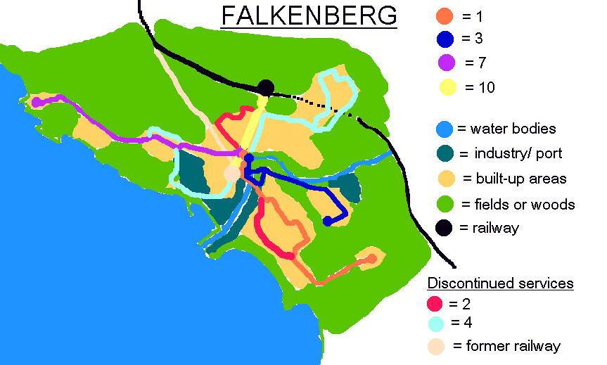 Falkenberg route map.