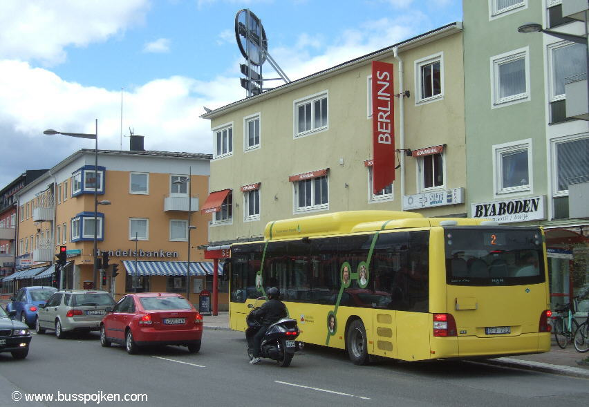 Bodenbuss 11, Medborgarplatsen.