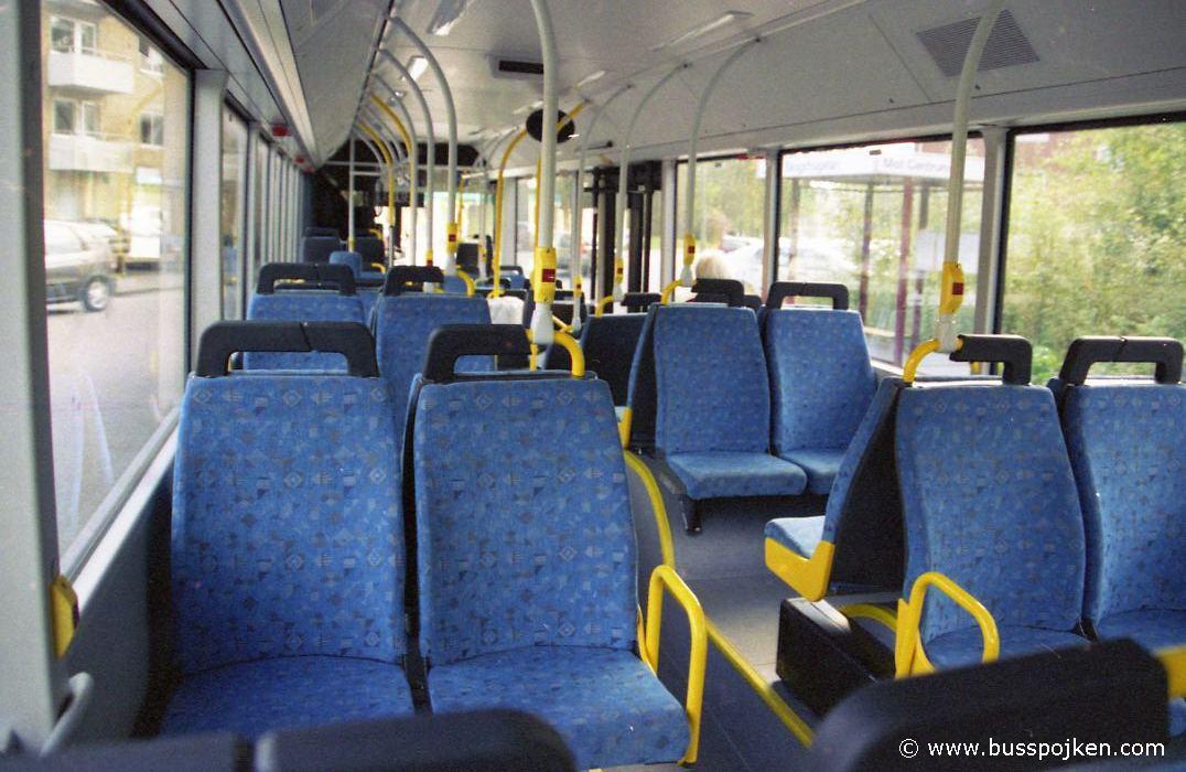 Interior of Borås lokaltrafik 25074.