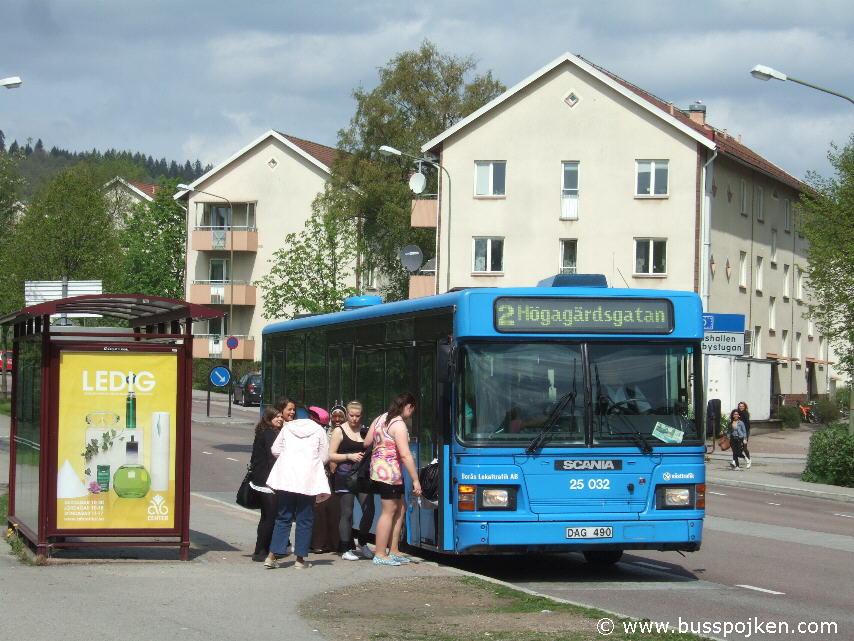 Borås lokaltrafik 25032-2, Almåsskolan.