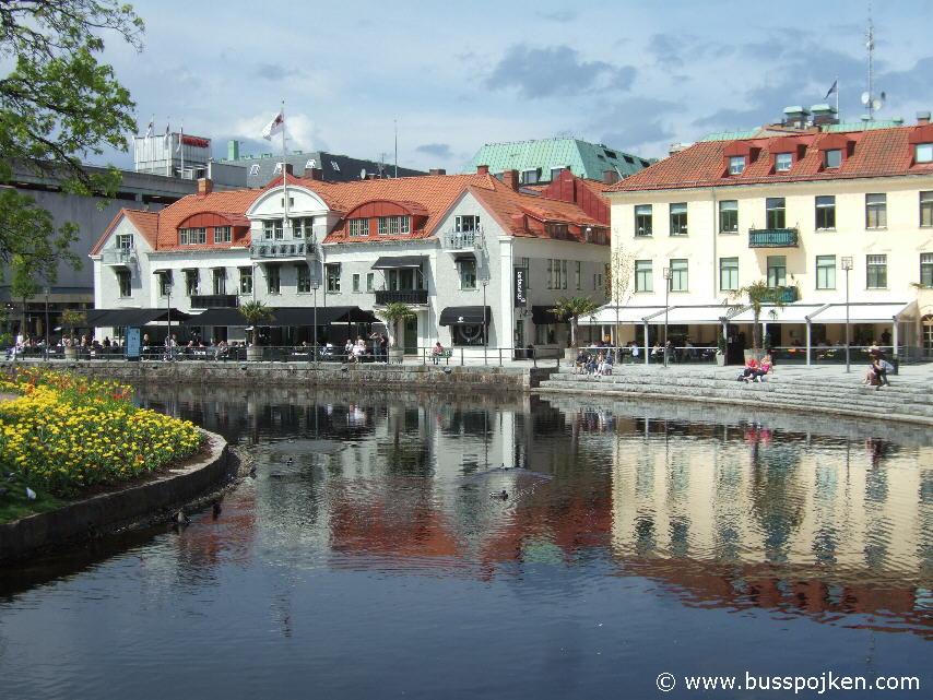 Södra Strandgatan and Viskan, Borås.