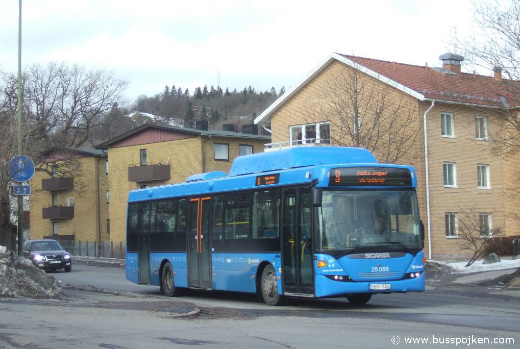 Borås lokaltrafik 25066, Ribbingsgatan.