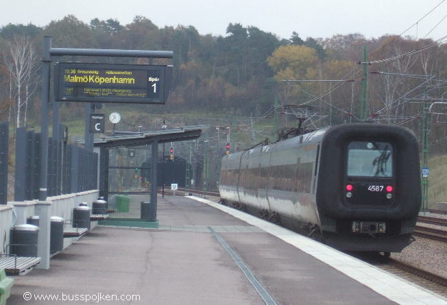 NYa stationen, Falkenberg.