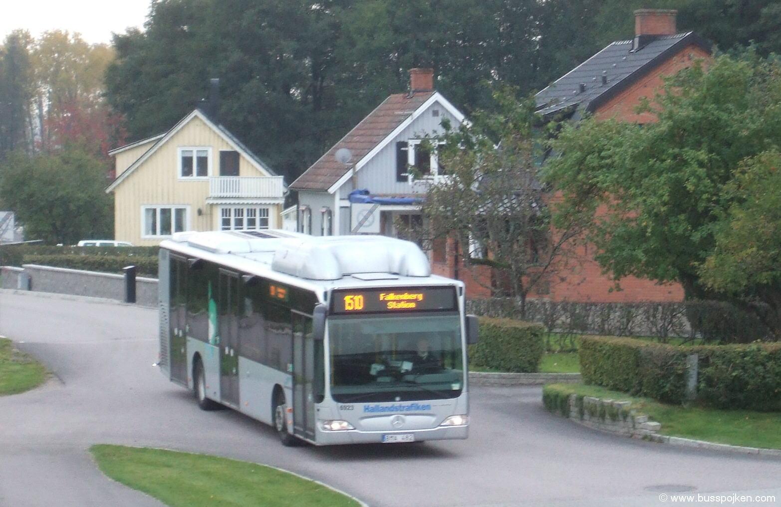Nobina 6923, Falkenberg station.