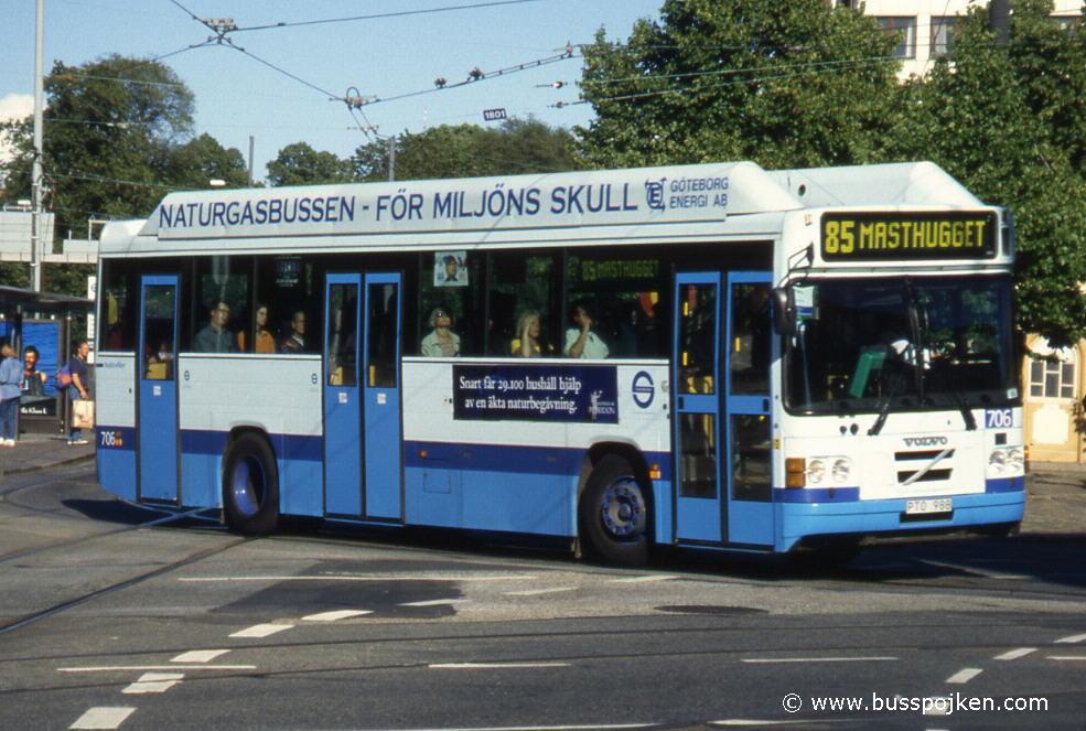 GS 706, by Järntorget in July 1996.