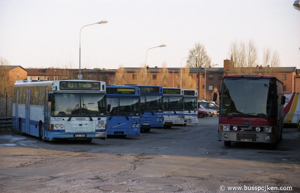 Linjebuss 2503, 200, 2501, 2507 and 2514 in Mölndal.