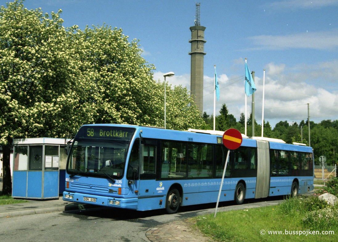 GS 336, by Merkuriusgatan at route 58, 2004.