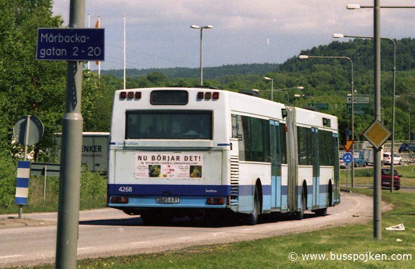 Swebus 4268, service 41 by Körkarlens gata in 2004.
