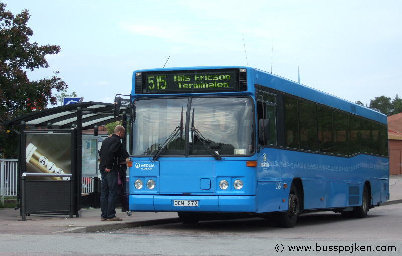 Linjebuss/ Veolia 2527 by the terminus in Furulund in August 2008.