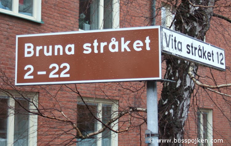 Street sign at Sahlgrenska in February 2009.