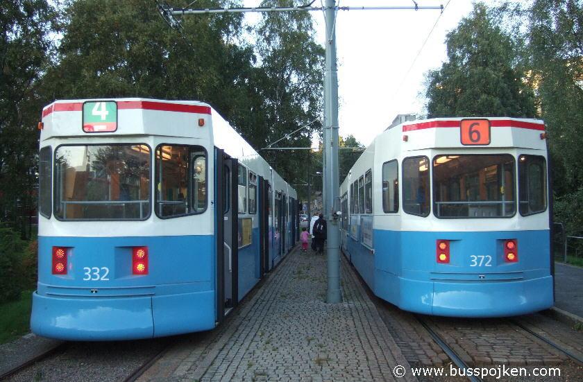 Göteborg M31 332 and 372.