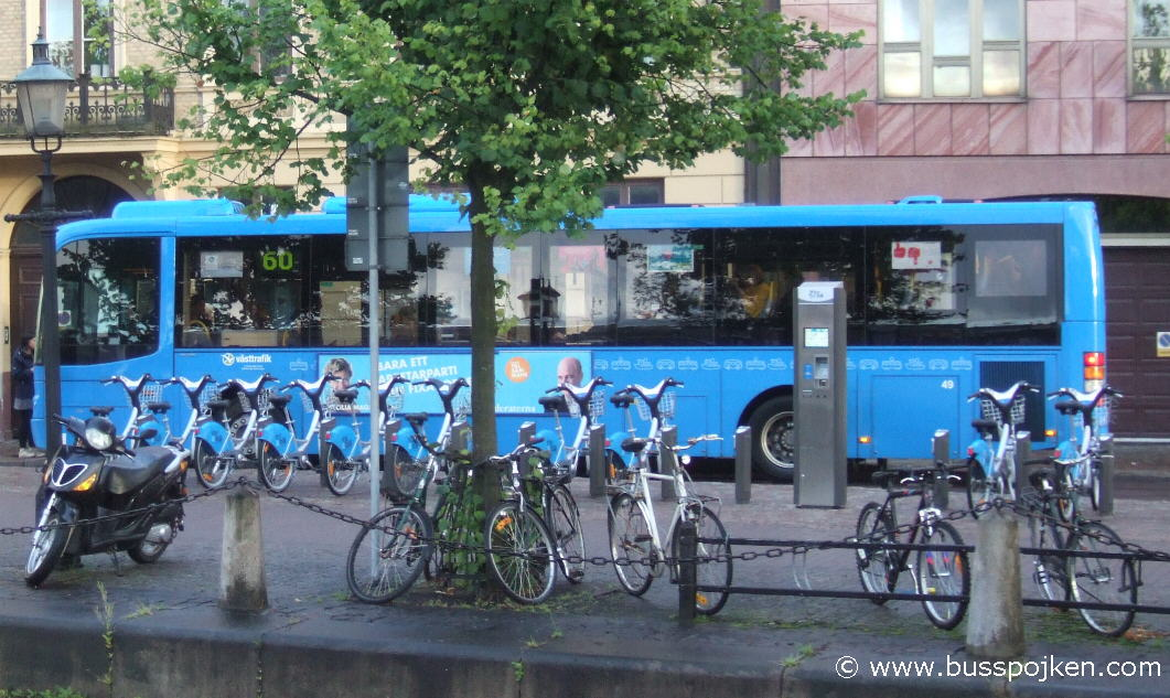 GS 49 at the bus stop for 60, across the canal from the Central station.
