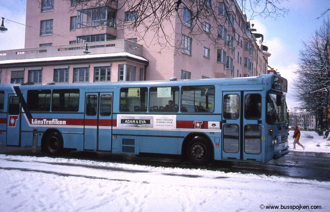 Örebro Järntorget with Volvo bus