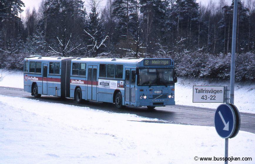 Örebro Brickebacken, bus 217