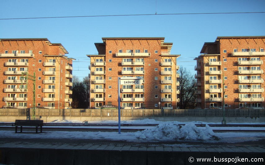 Skövde, by the station.