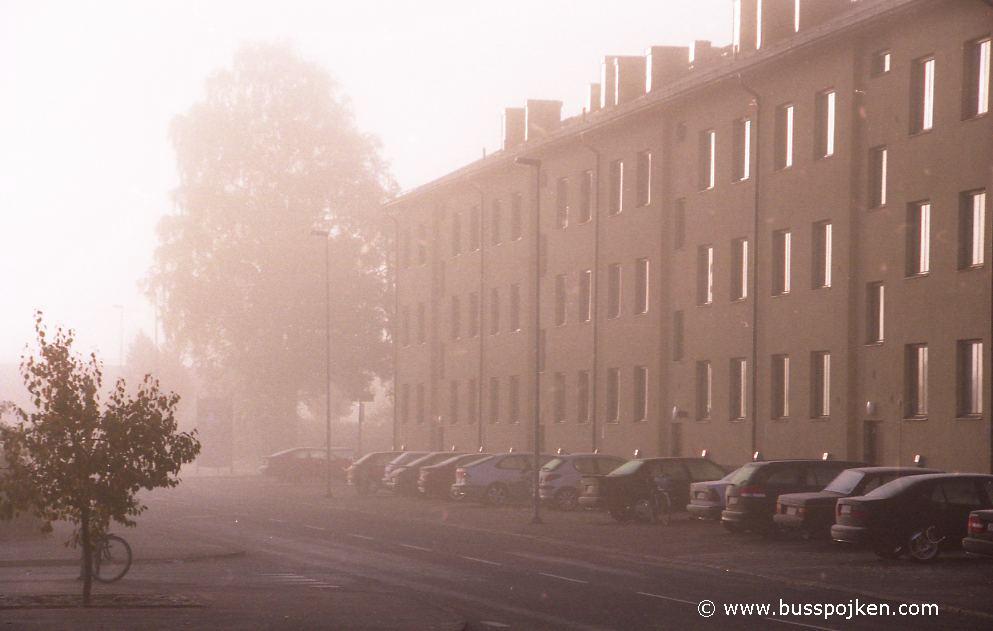Trollhättan a foggy morning in October 2005.