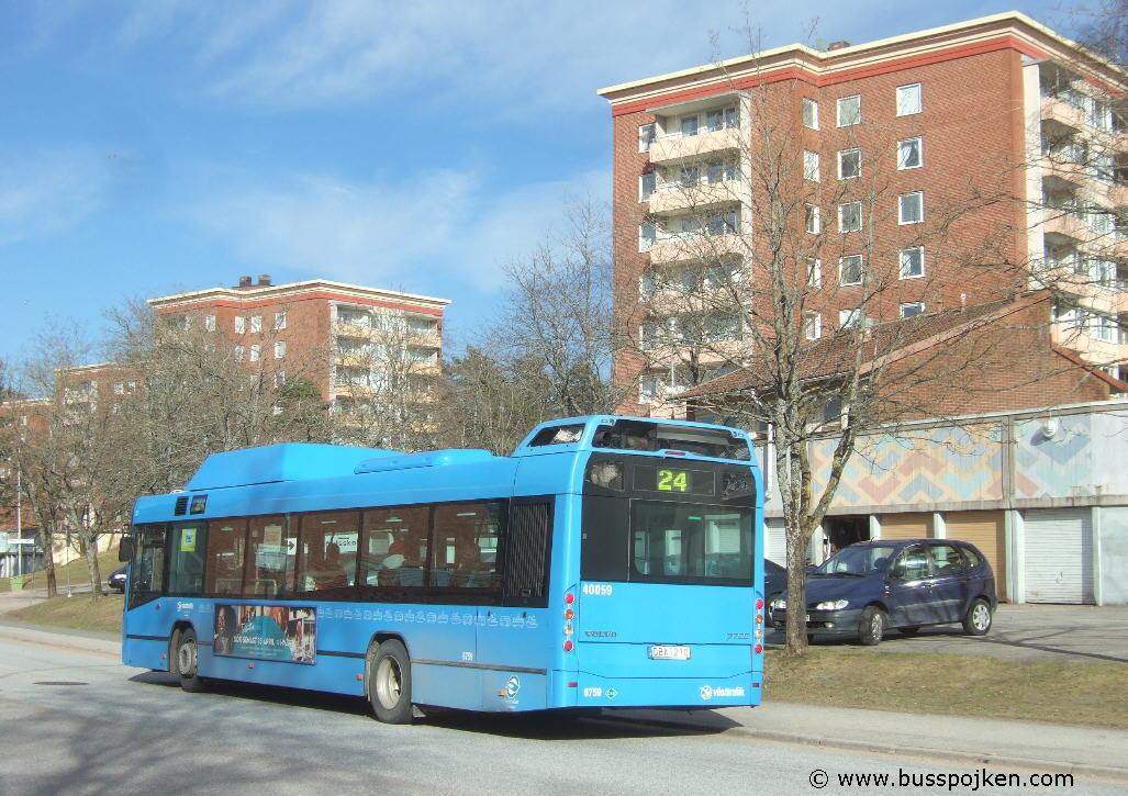 Nobina 6759-24, Hovslagaregatan in Trollhättan 2011.