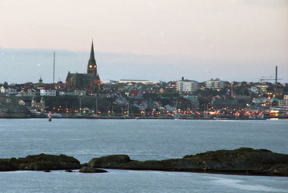 Lysekil at a distance.
