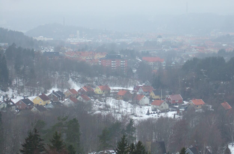 Uddevalla view from Äsperöd.